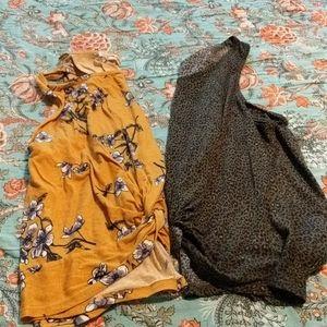 2 wallflower front twist shirts
